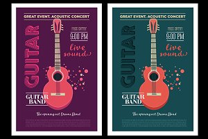 Acoustic guitar concert flyer