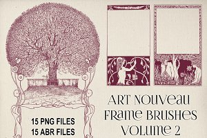 Art Nouveau Frame Brushes Vol 2