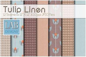 12 Tulip Linen Fabric Textures