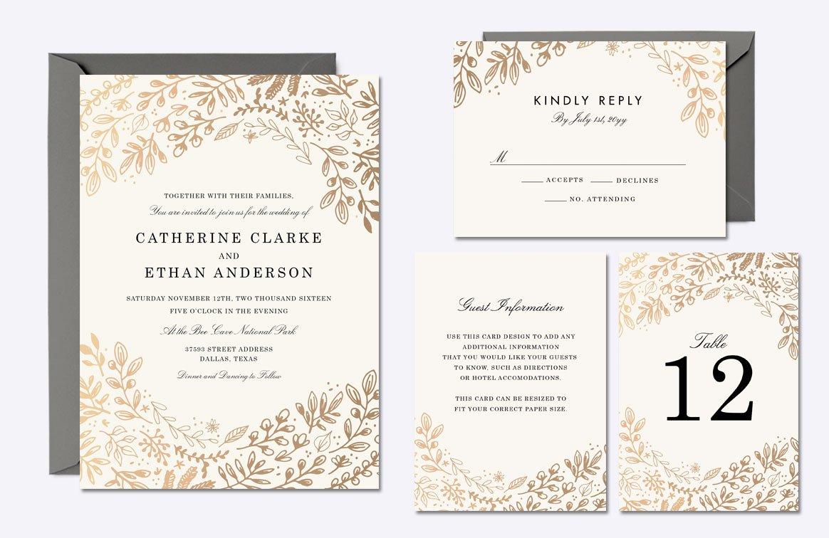 Harvest Flowers Wedding Suite ~ Invitation Templates ~ Creative Market