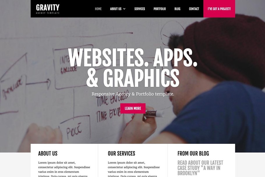 Gravity CMS Agency Webflow Template ~ Website Templates ~ Creative
