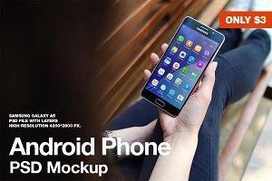 Galaxy A5 PSD Mockup