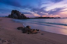 Colorful sky at the beach