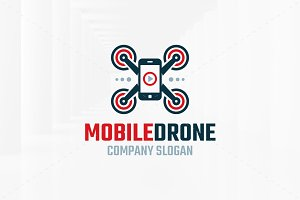 Mobile Drone Logo Template