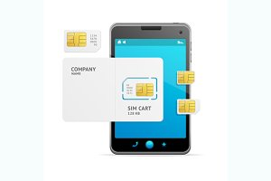 Phone Sim Card Template. Vector