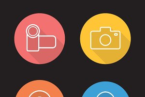 Electronics devices icons. Vector