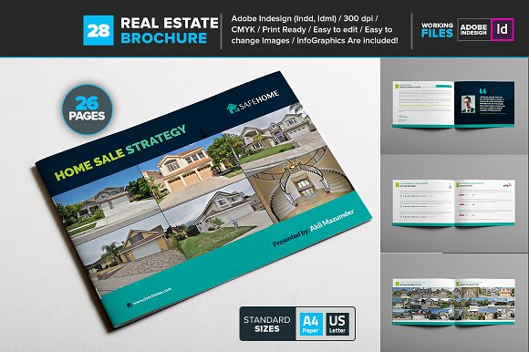 real estate brochure template 28 brochure templates creative market