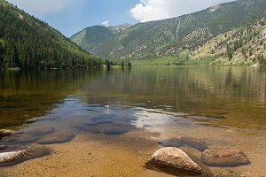 Calm lake in Colorado