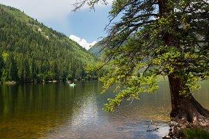 Calm lake in Colorado