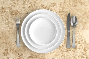Blank plate background