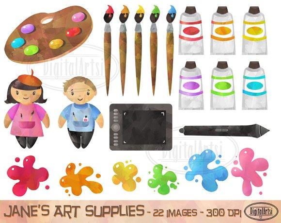 Art Supplies Clipart ~ Illustrations on Creative Market
