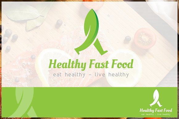 Healthy Fast Food Logo Template