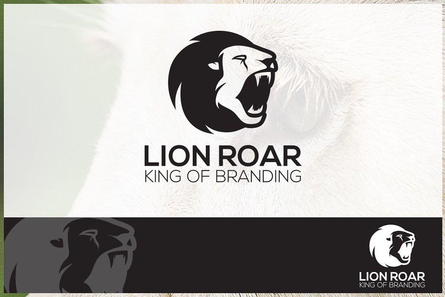 Lion Roar Logo Template