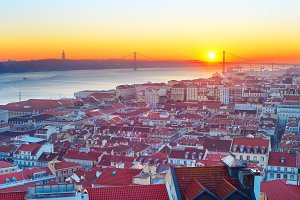 Skyline of Lisbon, Portugal