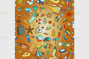 summer time theme pattern.