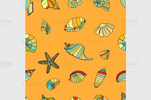 shell seamless background.