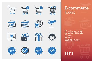 E-commerce Icons Set 2 - Blue Series