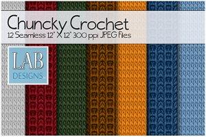 12 Chunky Crochet Fabric Textures