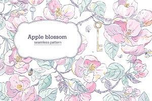 Apple blossom pattern