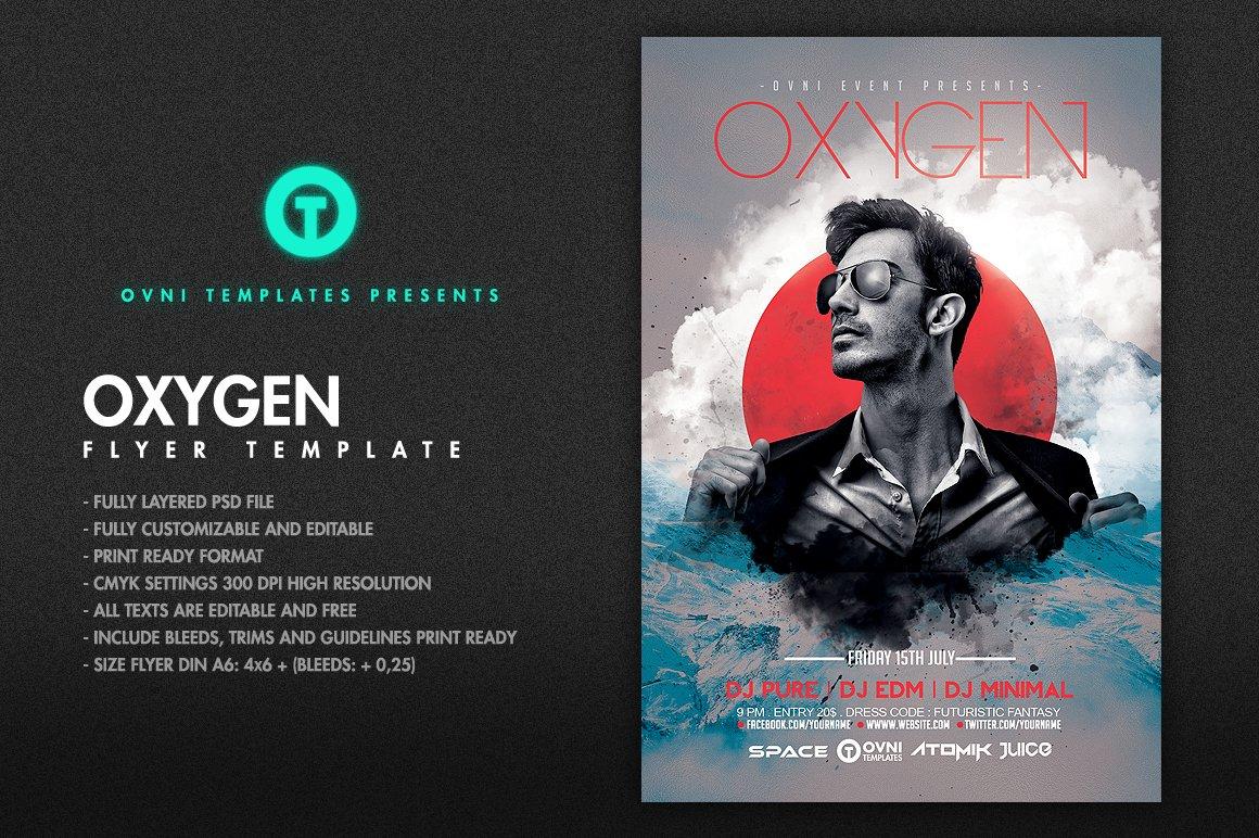 OXYGEN Flyer Template ~ Flyer Templates ~ Creative Market