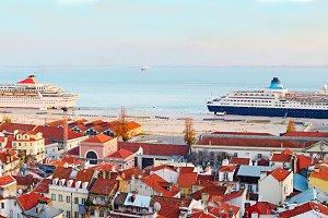 Lisbon quayside, Portugal