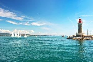 Lighthouse of St. Tropez. France