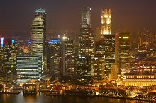 Illuminated night view of Singapore