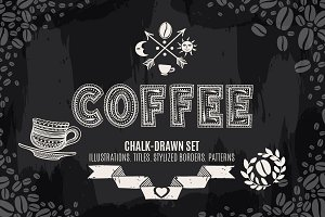 Chalk-drawn Coffee Decorations