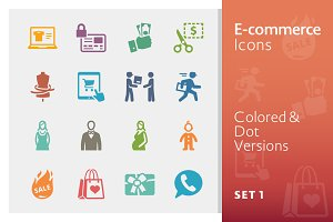 E-commerce Icons Set 1 | Colored