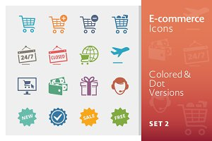 E-commerce Icons Set 2 | Colored