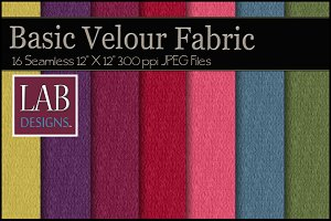 16 Basic Velour Fabric Textures