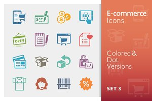 E-commerce Icons Set 3 | Colored