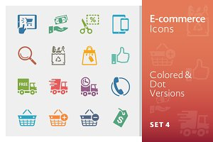 E-commerce Icons Set 4 | Colored