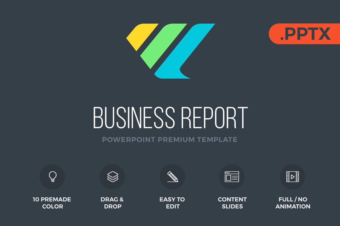 Business report powerpoint presentation templates creative market toneelgroepblik Gallery