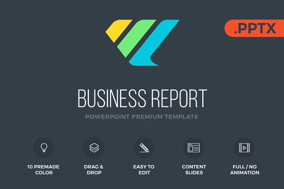 business report powerpoint presentation templates creative market