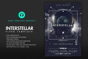 SPACE INTERSTELLAR Flyer Template