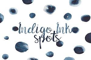 Indigo Ink Spots