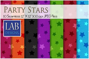 10 Seamless Party Stars Textures