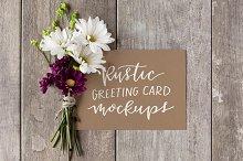 Rustic Greeting Card Mockups, Vol.1