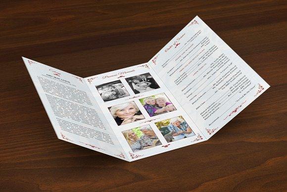 victorian tri fold funeral program brochure templates creative