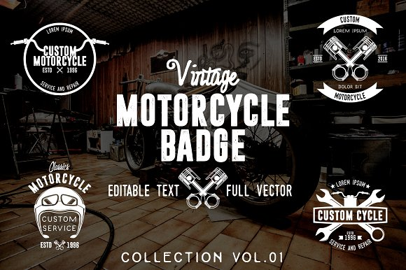 Vintage Motorcycle Badge Vol. 01 - Logos