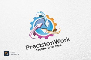 Precision Work - Logo Template