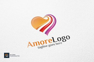 Amore / Heart / Love - Logo Template