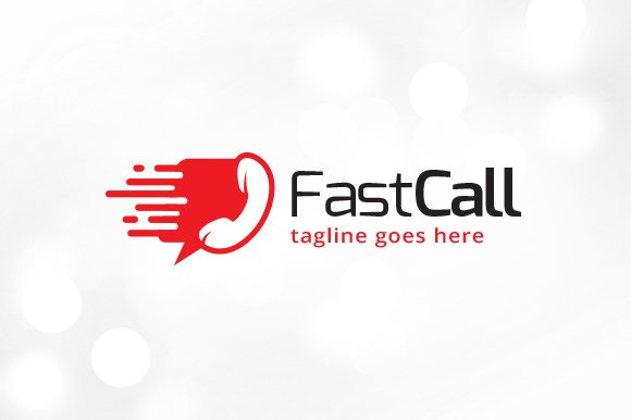 Fast Call Logo Template in Logo Templates - product preview 1