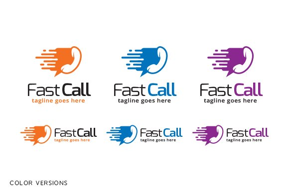 Fast Call Logo Template in Logo Templates - product preview 3
