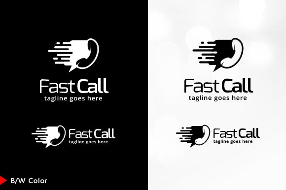 Fast Call Logo Template in Logo Templates - product preview 4