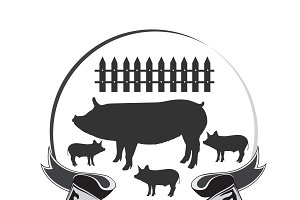 butcher emblem, fresh pork