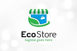 Eco Store Logo Template