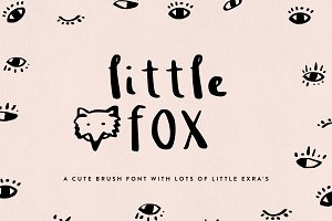 Little Fox Brush Font