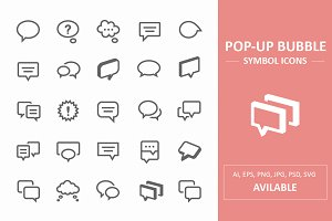 Pop-Up Bubble Symbol Icons